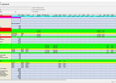 Ansicht FORB Stammdatenverwalten Vorkalkulation Horizontal